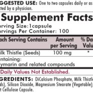 Milk Thistle 100 mg - Hypoallergenic - 100 capsules - INGREDIENTS