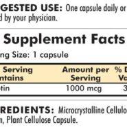 d-Biotin 1000 mcg - Hypoallergenic - 120 capsules - INGREDIENTS