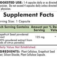 Grapefruit Seed Extract 125 mg - Hypoallergenic - 120 capsules - INGREDIENTS