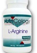 L-Arginine 500 mg - 100 Veggie Capsules