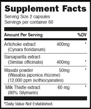 Liv Amend - 120 capsules - INGREDIENTS