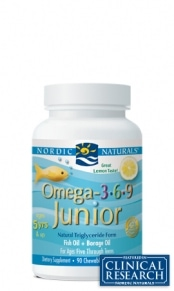 Omega 3-6-9 Junior - Lemon - 90 capsules