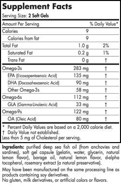 Omega 3-6-9 Junior - Lemon - 90 capsules - INGREDIENTS