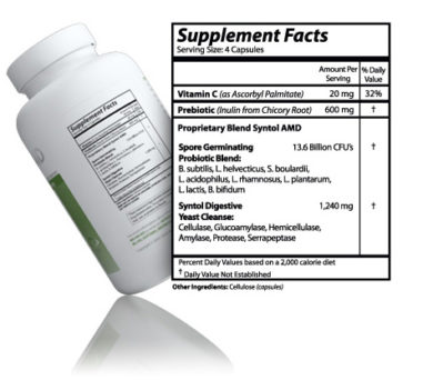 Syntol - 90 capsules - INGREDIENTS