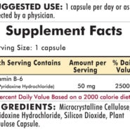 Vitamin B-6 50 mg - Hypoallergenic - 100 capsules - INGREDIENTS