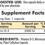 Vitamin D-3 2000 IU - Hypoallergenic - 120 capsules - INGREDIENTS