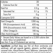 Ultimate Omega +CoQ10™ (Unflavored) - 60 softgels - INGREDIENTS
