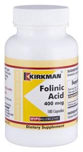 Folinic Acid 400 mcg - Hypoallergenic - 180 capsules