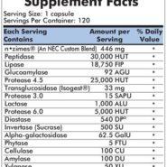 Maximum Spectrum Enzym-Complete/DPP-IV™ Fruit Free w/Isogest® - 120 capsules - INGREDIENTS