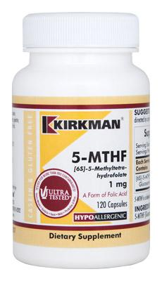 5-MTHF ([6S]-5-Methyltetrahydrofolate) 1 mg - Hypoallergenic - 120 capsules