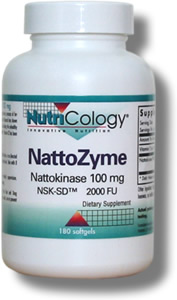 NattoZyme 100 mg 180 Softgels Nattokinase