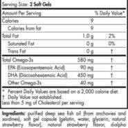 DHA Formula - Strawberry (500mg) - 180 capsules - ingredients