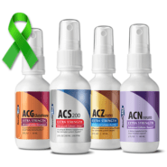 Ultimate Lyme Support 2oz System (ACS 200, ACZ Nano, ACG Glutathione, ACN Neuro), 4 bottle set