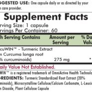 Curcumin/Turmeric Root Extract 275 mg - 60 capsules - INGREDIENTS
