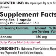 Idebenone 150 mg - Hypoallergenic - 150 capsules-ingredients