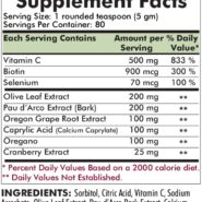 Yeast Aid Advanced Formula Powder Flavored - 400 grams