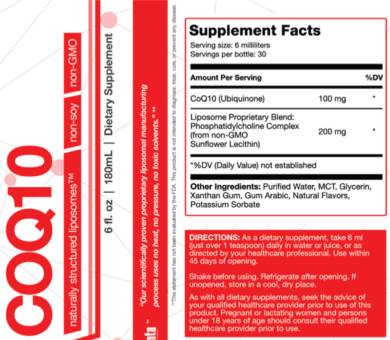 Liposomal COQ10 - 30 servings